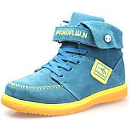 dw Kinder Samt High-Top Sneaker Mode warme Schnee Knöchel Jungen Stiefel (blau)