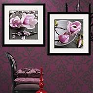 Kukkakuvio/Kasvitiede Kehystetty kanvaasi / Kehystetty setti Wall Art,PVC Maalattu Mukana taustalevy Frame Wall Art