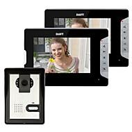 7 inch video deurtelefoon deurbel Intercom Kit 1-camera 2-scherm Night Vision