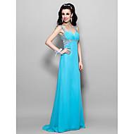 Prom / Formal Evening / Military Ball Dress - Plus Size / Petite A-line / Princess Sweetheart / Straps Floor-length Chiffon