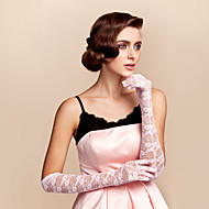 Elbow Length Fingertips Glove Lace Bridal Gloves Spring Summer Fall