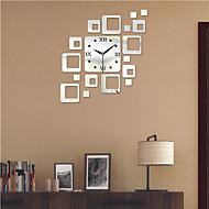 "19.75 ""H Modern Style PS Block Mirror Wall Clock"