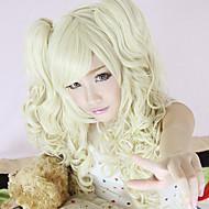 Harajuku Style Cosplay Synteettinen Wig Lolita Bunches aaltoileva Wig Light kultainen