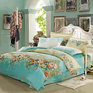 Blumen Polyester Bettbezug-Sets