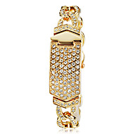 Women's Full Diamante Rectangle Dial Alloy Band Quartz Analog Fashion Watch Cool Watches Unique Watches