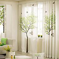 desenhador dois painéis botânica floral de linho quarto cortinas de painel de mistura de algodão cortinas