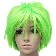 Capless Yellow Short Straight Party Hair Wig