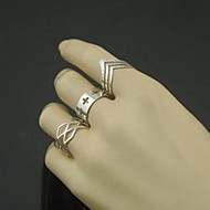 Ring Number Party / Daily / Casual Jewelry Alloy Women Midi RingsAdjustable Silver