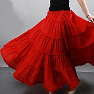 Women's Gypsy Bohemia Large Hem Cotton Spain Pleated Maxi Skirts‍