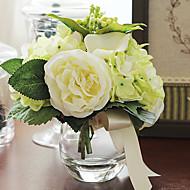 "7""H Exquisite Tabletop Flower Bouquet Arrangement (Green)"