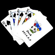 , Személyre szabott ajándékot Fehér Football Pattern Playing Card