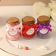 Bowknot Hochzeit Glass Candy Jars (weitere Farben)-Satz von 12