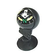 Mini Irányított traval Car Compass Részletesen tapadókornog - fekete