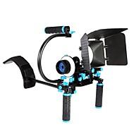 yelangu® grundlæggende version af dslr kamera skulder rig med enkle c typen bærbar matte box follow fokus