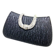 Women leatherette Event/Party Evening Bag Gold / Silver / Gray / Black / Champagne