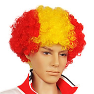 Capless Football Fans Party Wig (spansk flag farver)