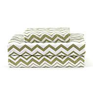 "Sheet Set,4-Piece Microfiber Wave Green with 12"" Pocket Depth"