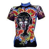 PALADIN 자전거/싸이클링 져지 / 탑스 여성의 / 남성의 짧은 소매 통기성 / 자외선 방지 / 빠른 드라이 100% 폴리에스터 만화 / 패션 S / M / L / XL / XXL / XXXL 레저 스포츠 / 사이클링/자전거 봄 / 여름