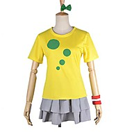 Inspired by Love Live Kotori Minami Anime Cosplay Costumes Cosplay Suits Patchwork Yellow Short Sleeve T-shirt / Skirt