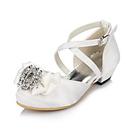 Mariage-Ivoire Blanc-Talon Plat-Confort Light Up Chaussures-Ballerines-Satin