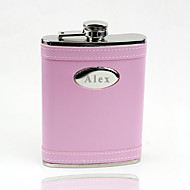 Gift Groomsman /Bridesmaid Personalized Pink 8-oz Flask