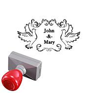 gepersonaliseerde 33x63mm bruiloft& zakelijke vredesduif stijl rechthoek gegraveerd lichtgevoelige zegelring naam stempel (binnen 8 letters)