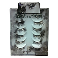 6 pairscoolflower false eyelashes with diamond 046#