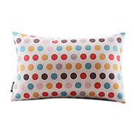 Colorful Dots algodão / Linen Decorrative fronha