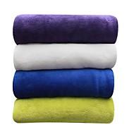 コーラルフリース純色 純色 ポリエステル100% 毛布