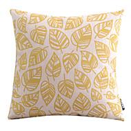 Ouro folhas de algodão / linho decorativa fronha
