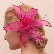 Fleurs Casque Mariage/Occasion spéciale/Outdoor Plume/Tulle Femme/Jeune bouquetière Mariage/Occasion spéciale/Outdoor