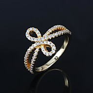 Elegant Gold Plated with Zircon Women's Ring(More Colors)