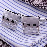 xinclubna® férfi divat ezüst réz mandzsettagomb (1.5cm, ezüst) (1pár)
