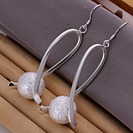 Simple Ball Shape Silver Plated Foreign Trade Earring(Silver)(1Pair)