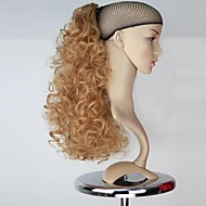 Excelente qualidade sintética peruca 18 polegadas Honey Blonde longo encaracolado Garra rabo de cavalo