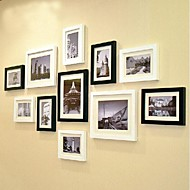 2 Kolory Kolekcja Frame Photo Wall Set z 11