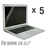 [5-pack] Hög kvalitet Invisible Shield Smudge Proof Skärmskydd till MacBook Air 13,3-tums