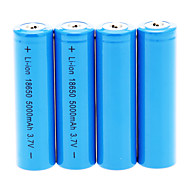 5000mAh 18650 Battery (4pcs)