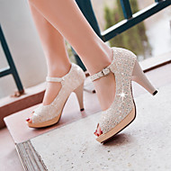 Women's Heels Spring Summer Fall Other Synthetic Party & Evening Dress Casual Stiletto Heel Buckle Pink Purple Beige
