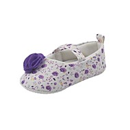 Girl's Flats Spring / Fall First Walkers Synthetic / Cotton Casual Flat Heel Blue / Purple