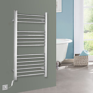 75W Towel Warmer Stainless Steel Mirror Polished Drying Rack Wall Mount