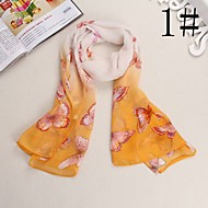 Bully Hand Painted Butterflies Shawl Sunscreen Chiffon Scarf