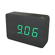 Shibaojia ® LED  Wooden Clock Sound Control Fasionable Design Clock