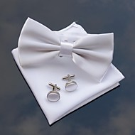 xinclubna® mænds bryllupsfest polyester bowties med matchende hanky& cufflink (10 farver)