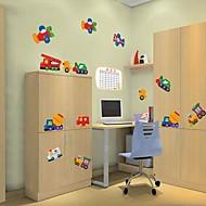 Createforlife ® Avião dos desenhos animados Truck Transporte Crianças Nursery quarto adesivos de parede arte da parede decalques