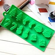 hóember, karácsonyfa pálcát zokni tortát csokoládé formák, szilikon 22,6 × 10 × 1,5 cm-es (8,9 x 3,9 x 0,6 hüvelyk)