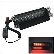 Carking™ HS-51057M 12V 8LED 8W Red Light Car Caution Warning Lamp