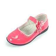 Patent Leather Girls' Flat Heel Comfort Flats with Magic Tape Shoes(More colors)