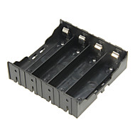 diy 4-slot 18650 batteri holder med ben - sort
