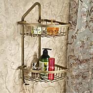 Antique Brass Finish Brass Material Shower Baskets